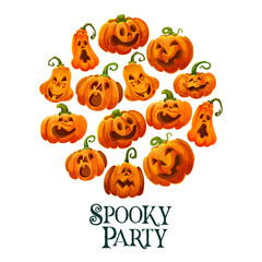 Halloween pumpkin banner for october holiday party