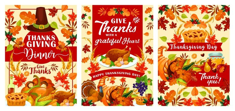 Vector Happy Thanksgiving Day posters