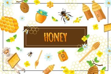 Cartoon Organic Honey Concept