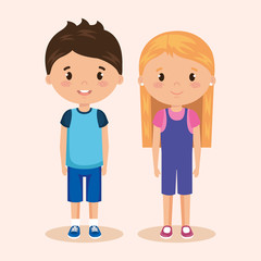 cute and little kids couple
