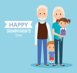 grandparents day with grandchildren characters