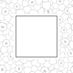 Daffodil - Narcissus Outline Banner Card