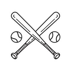 baseball vector icon logo baseball bat cartoon illustration symbol clipart