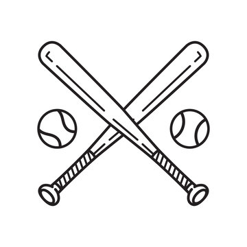baseball vector icon logo baseball bat cartoon illustration symbol clipart