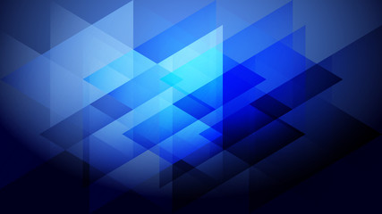 Abstract blue light and shade creative background with triangle. Vector illustration.