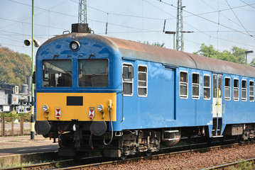 Passanger train on the railway track