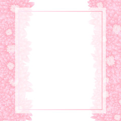 Pink Chrysanthemum Banner Card Border