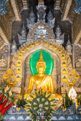 Wat Srisuphan in Chiang mai, northern Thailand, Church built from silver.