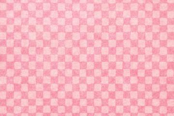 和紙 ピンク 市松模様 正月 テクスチャ