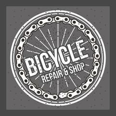 bike ride repair and shop design card