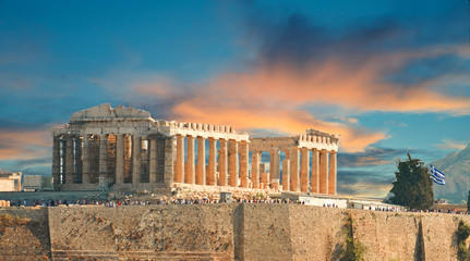 Wall Mural - Parthenon in autumn  Acropolis in Athens  Greece
