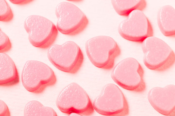 Heart shape candy texture