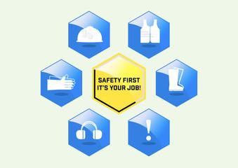 Illustration vector, Site safety sign