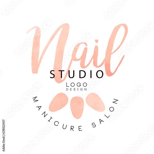 Nail Studio Manicure Saloon Logo Design Creative Template For Nail