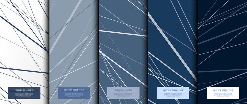 Texture collection abstract pattern texture navy blue background card template vector