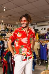 Stylish man in shop