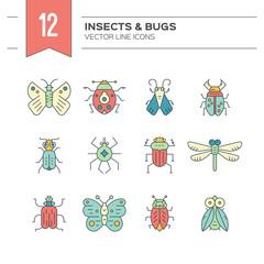 Bug Icons Set