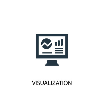 visualization creative icon. Simple element illustration. visualization concept symbol design from Business intelligence collection. Can be used for web and mobile.