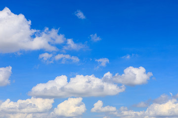 Beautiful background from blue sky and white cloud.