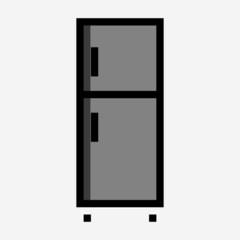 Coloured outline fridge pixel perfect vector icon