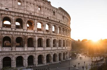 Tuinposter Rome Colosseum building
