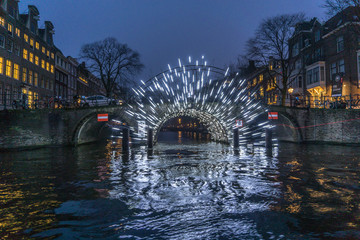 Canvas Prints Amsterdam Light Festival Amsterdam