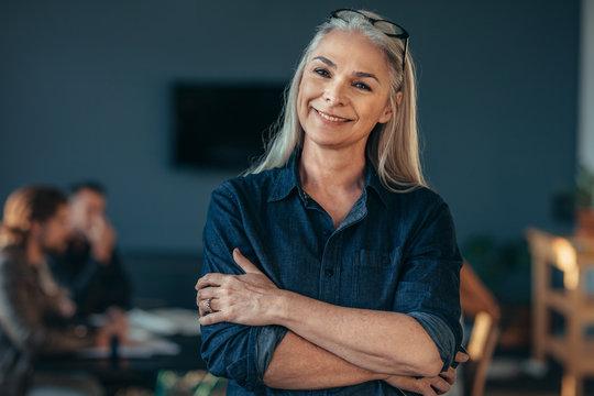 Confident senior business woman