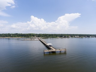 Fairhope Pier on Mobile Bay, Alabama