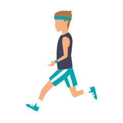 Fitness man running vector illustration graphic design vector illustration graphic design