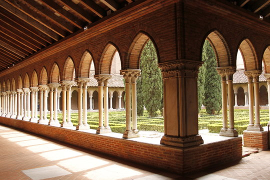Cloître du couvent des Jacobins à Toulouse, Haute Garonne