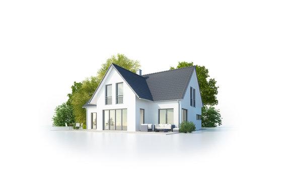 Einfamilienhaus 1 freigestellt
