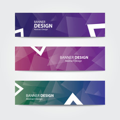 Vector abstract banner design template