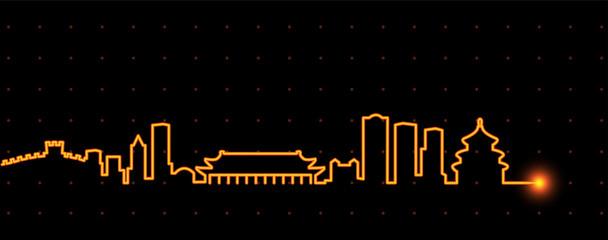 Beijing Light Streak Skyline