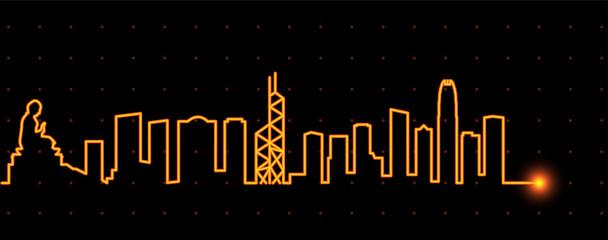 Hong Kong Light Streak Skyline