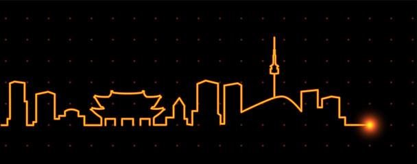 Seoul Light Streak Skyline