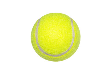 Tennis ball on white background.