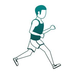 Fitness man running vector illustration graphic design