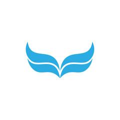 Wing logo vector