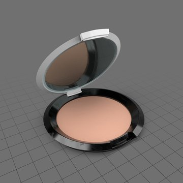 Round powder compact mirror