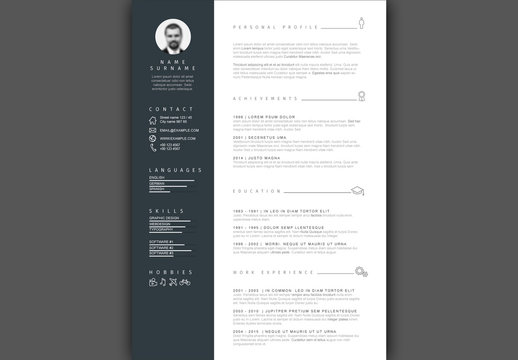 Resume Layout with Sidebar