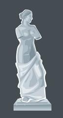 Sculpture Venus - goddess of love.Vector flat isolated illustration
