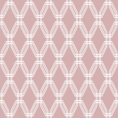 Seamless Geometric Vector Purple and White Background