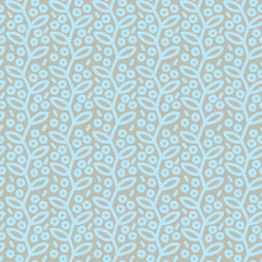 Fototapete - Seamless pattern with leafs and berries