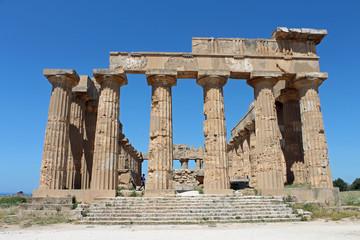 Sicile, site du temple de Selinunte