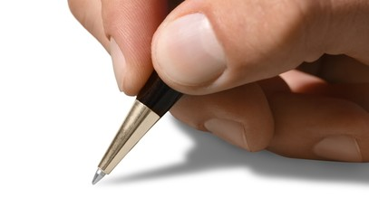 Close-up of a Hand Writing