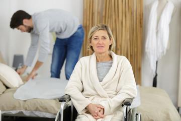 image of elderly female resident of rest home