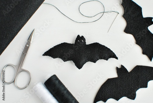 Halloween Holiday Decoration From Felt Fabric And