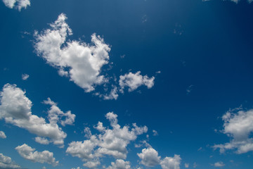 White clouds on a blue sky