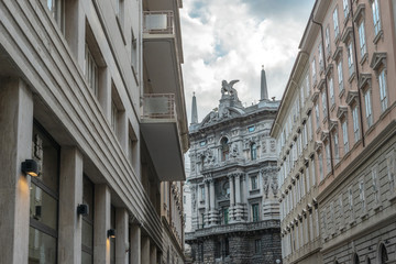 Trieste architecture by day