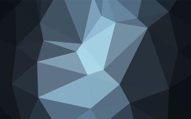 Dark BLUE vector triangle mosaic texture.